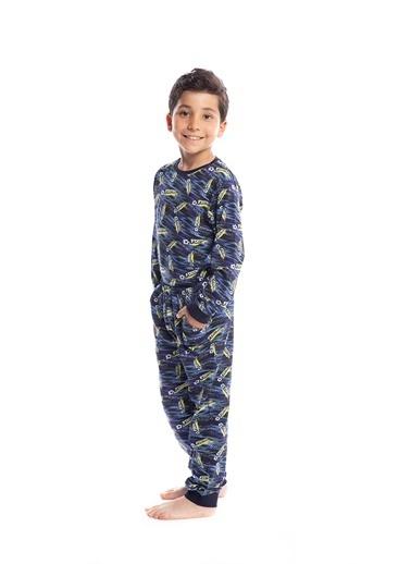 Pamuk & Pamuk Erkek Çocuk Futbol Desen Pamuklu Pijama Takımı Renkli